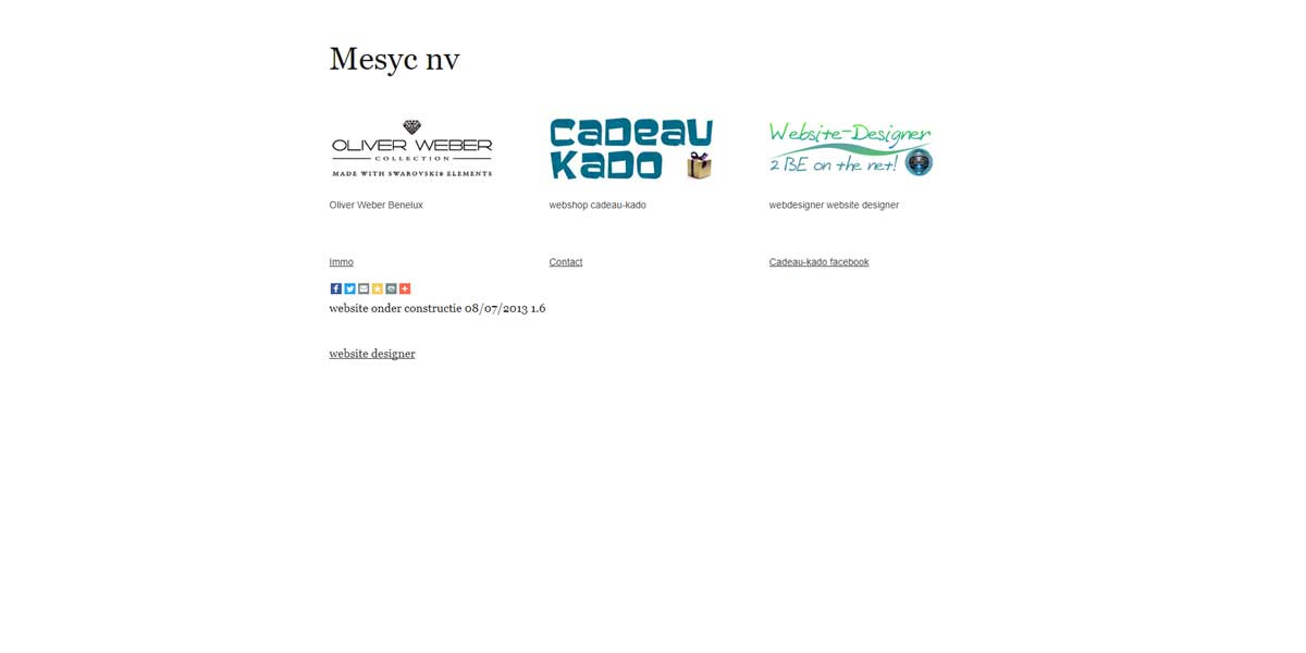 Websiteproject Mesyc nv