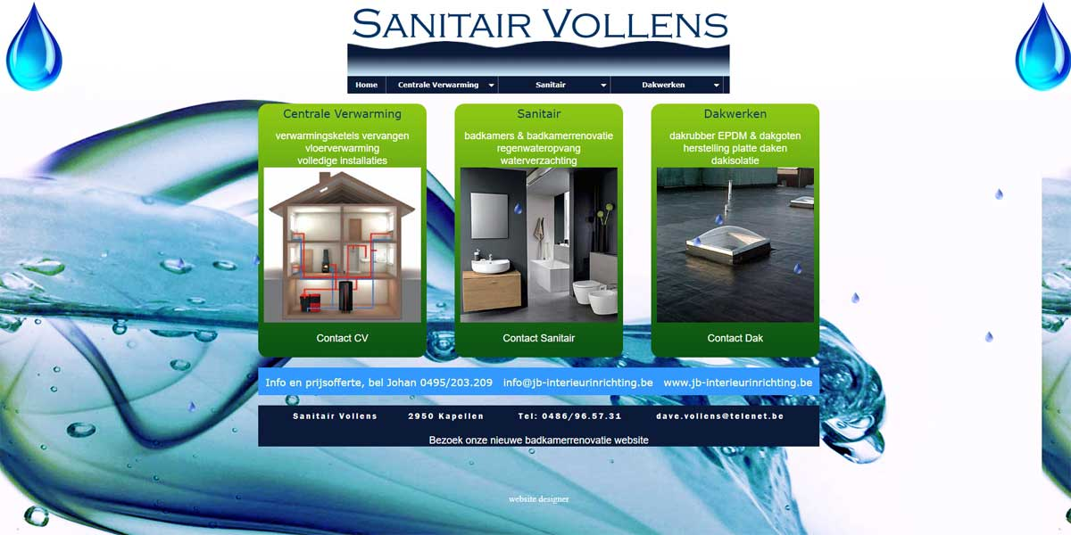 Websiteproject Sanitair Vollens