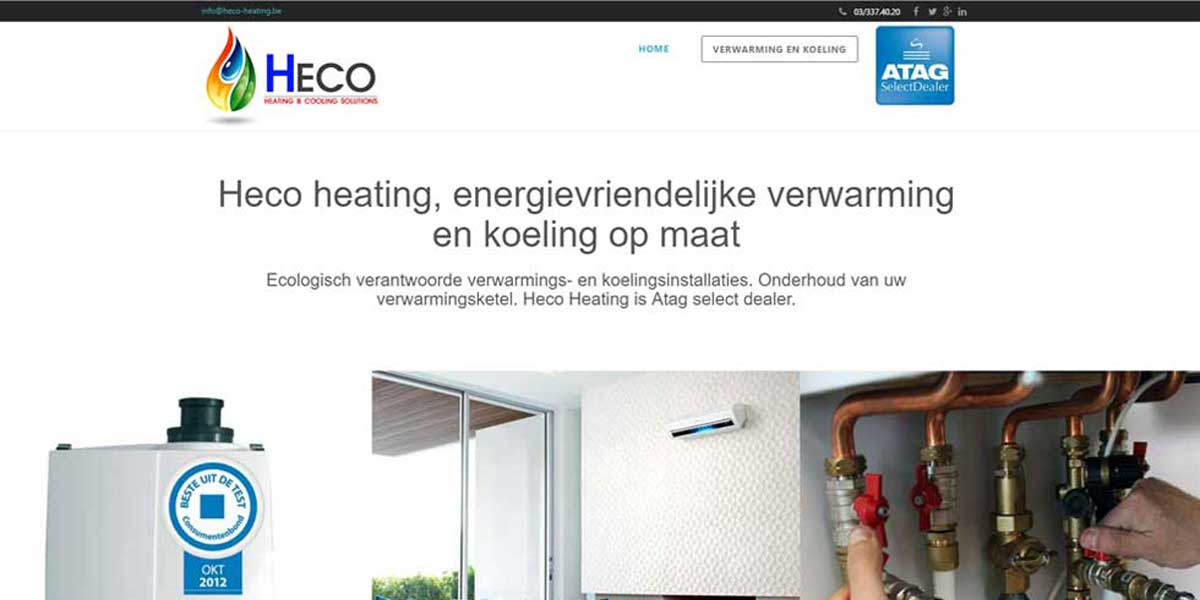 Websiteproject Heco Heating