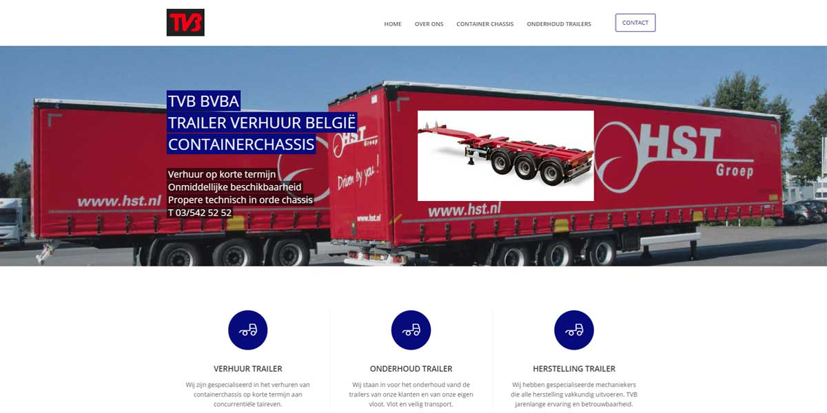 Websiteproject Trailer verhuur